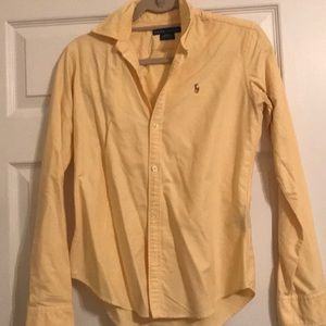 Spring! Ralph Lauren Yellow Slim Fit Oxford 4